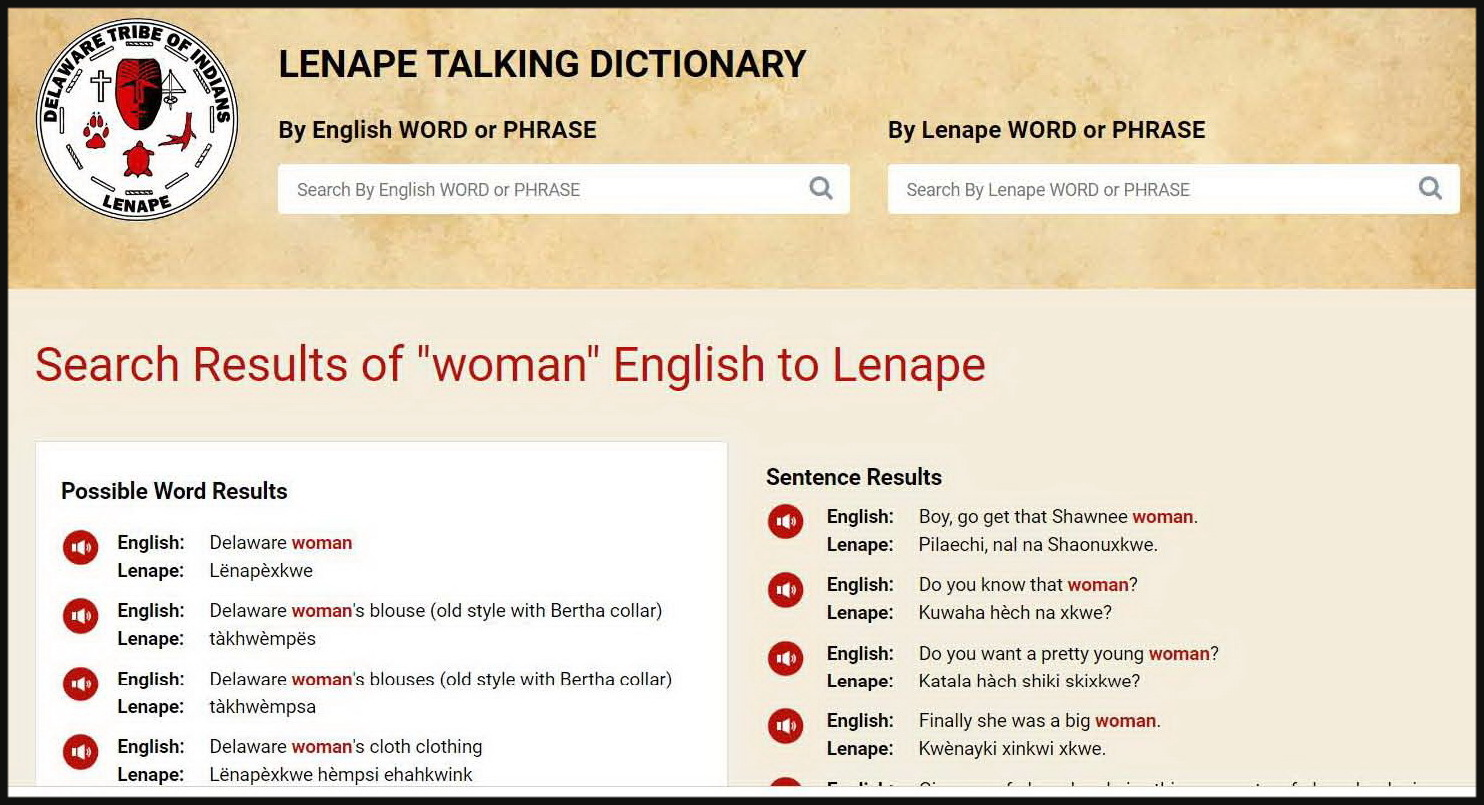 The Lenape Talking Dictionary Getting Started